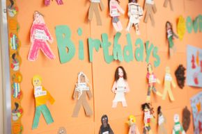 birthday wall